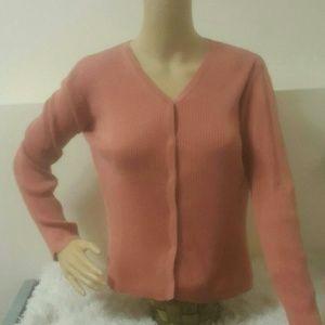 Eddie Bauer Button down sweater Rose Small